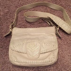 Steve Madden bone colored crossbody.